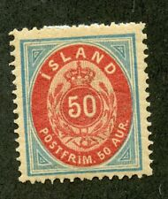 ICELAND SCOTT# 19 MINT LIGHTLY HINGED AS SHOWN CATALOGUE VALUE $120