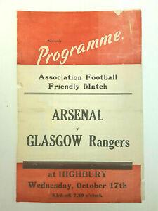 Arsenal v Glasgow Rangers (Friendly) 1950-51