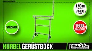 Kurbel Gerüstbock K1500