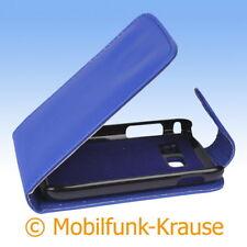 Flip Case Etui Handytasche Tasche Hülle f. Samsung Galaxy Y Duos (Blau)