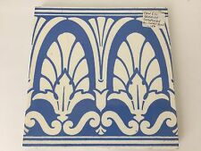 Antique Blue & White Maw & Co Owen Jones Architectural Tile Circa 1880 (S2)