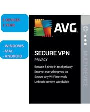 AVG Secure VPN 2021 | 1 YEAR - 5 DEVICES. Windows-MAC-Android Fast Delivery!
