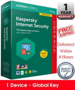 Kaspersky INTERNET SECURITY 2021 - 1 DEVICE - GLOBAL KEY