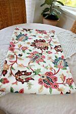 Threshold Botanical Shower Curtain Target Cotton Pink Brown Teal NWOT