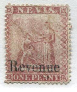 Nevis 1d overprinted REVENUE unused no gum