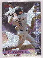 1996 JEFF BAGWELL - Topps POWER BOOSTER Baseball Card # 4 - HOUSTON ASTROS HOF