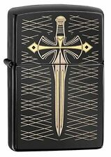 Zippo 28799 dagger-sword black ebony finish full size Lighter