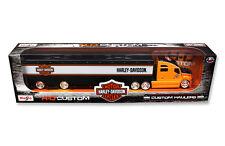 Harley Davidson Custom Hauler Trailer Orange 1:64 Model - Masito - 11516OR*