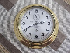 WEMPE Chronometerwerke mech. Schiffsuhr / Officeuhr ca. 1950