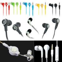 White Retractable Ear Stereo Headphones MP3 MP4 Mobile Phone Music Earplugs Hot