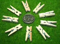 20 WOODEN MINI NATURAL WOOD CLOTHES PEGS 30 mm scrap booking, place cards,