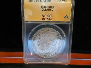 "1889-CC Anacs VF20 Morgan Dollar  ""Cleaned""  Great Looking Morgan"