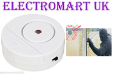 SECURITY DOOR WINDOW GLASS BREAK VIBRATION DETECTOR ALARM SIREN 95DB LOUD