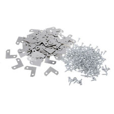 100pcs Corner Brace Plate Flat Bracket for Photo Picture Frame with Screw