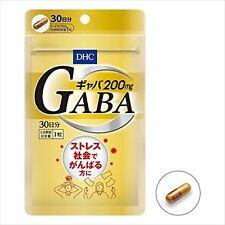 DHC Gaba Supplement  Gamma-aminobutyric acid 30days Hard Capsule 200mg JAPAN F/S