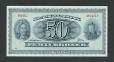 More details for denmark 50 kroner 1970 krause 46b  uncirculated  banknotes