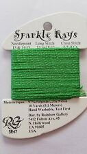 Rainbow Gallery Sparkle Rays Lt Christmas Green Sr47 10yd Cross Stitch