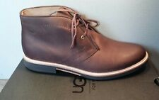 NEW MENS SIZE 10 GRIZZLY UGG DAGMANN LEATHER CHUKKA BOOTS LACE UP SHOES