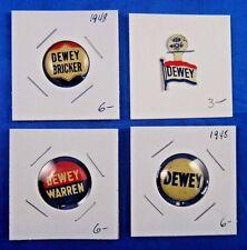 Thomas Dewey Warren Bricker Presidential Campaign Pin Pinback Button Lot of 4