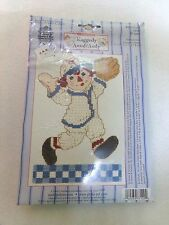 NEW CLASSIC Raggedy Anne & Andy Cross Stitch Catch! Janlynn Baseball #077-0109