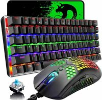 Mechanical Keyboard and Mouse Combo,LED Backlit Wired Lightweight Gaming Mice US