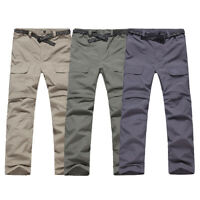 Men Quick Dry Pants Removable to Hiking Shorts Outdoor Travel Trousers Charm