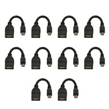 10X Micro-USB Male to USB 2.0 Female Host OTG Adapter Cable for Nexus Samsung LG