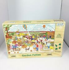 Hop House Of Puzzles Garden Follies 1000 Piece Jigsaw Puzzle Complete Used