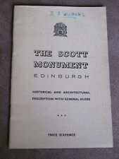 1950s Edinburgh Scott monument guide & completion certificate