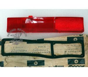 Mopar NOS 1963 Plymouth Valiant Right Hand Tail Light Lens 2298897