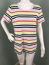 Womens J.Crew S/S Perfect Fit Striped Cotton Tee Top Sz XL
