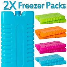 Two x Freezer Ice Blocks Travel Cooler Bag Box Reusable Picnic Lunch Camping NEW