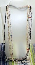 "Lot of 4 Semiprecious Stone Bead Necklaces, 34"" Each"