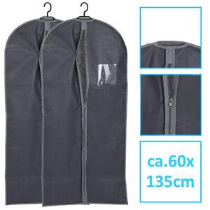 2 x Kleidersack Kleiderschutzhülle Kleiderhülle Aufbewahrungstasche Anzug-Tasche