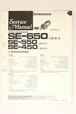 PIONEER SE-650 SE-550 SE-450 Stereo Headphones Original Service-Manual! o66