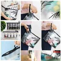 Clear Makeup Pouch Zipper Toiletry Holder Pen Pencil Case Cosmetic Bag Fashion: