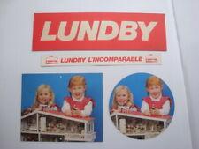 Lot PLV jouets anciens Lundby of Sweden poupées meubles vintage display