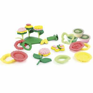 GREEN TOYS  Öko Knete Set Blumen Knetutensilien Junge Mädchen