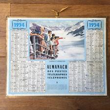 Calendar Almanac 1954 Posts Telegraphs Phones - Surprise and Admiration