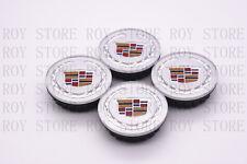 "4Pc Set Silver Wheel Center Hub Caps Cadillac Ats Cts Dts Srx Sts Xlr Xts 2-5/8"" (Fits: Cadillac)"