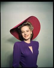 Alexis Smith Vintage Hollywood Glamour Photo Vivid Color Original Transparency