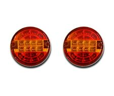 2 x 24V E-MARKED HAMBURGER LED REAR LIGHTS TAIL LAMPS TRUCK TRAILER CHASSIS BUS