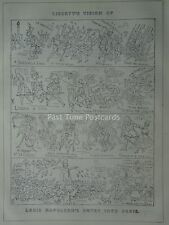 LIBERTY'S VISION OF LOUIS NAPOLEON PARIS ENTRY Original 1848 Victorian Cartoon