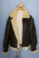 Womens B-3 B3 100% Sheepskin Shearling Air Force Bomber Leather Jacket Sz 10