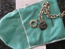 Ritorno a Tiffany Cuore Toggle argento 38cm collana catena pesante.