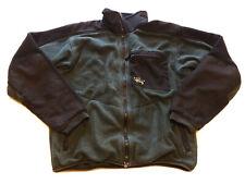 Mountain Hardwear Fleece Jacket Men's Size M Hiking Warm Full Zip Green Black
