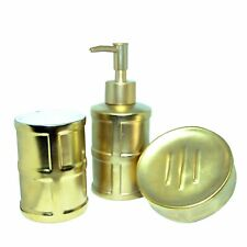 Luxury Gold Silver Bathroom Ceramic Dispenser Pump Lotion Toothbrush Soap Dish
