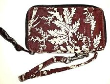 Vera Bradley Imperial Toile All In One Wristlet Removable Strap Outside Pockets