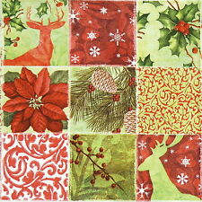 Papel 4x Servilletas Para Decoupage Decopatch Collage De Navidad