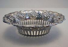 Antique Indian Colonial Art Nouveau SILVER Basket/Dish/Bowl Peter Nicholas Orr
